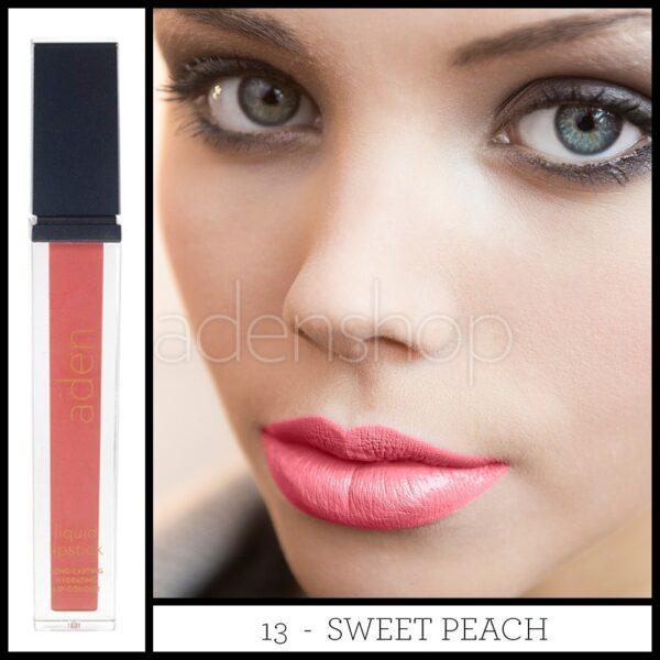 aden ruj lichid 13 sweet peach 2nd