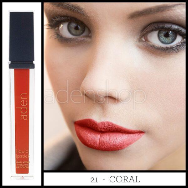 aden ruj lichid 21 coral 2nd