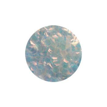 mermaid scale flitter white silver l
