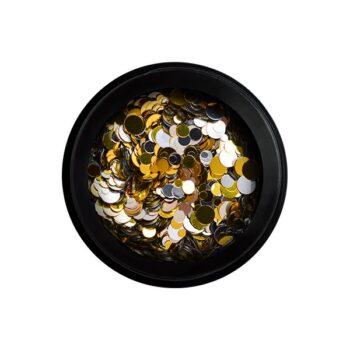 nail confetti gold silver 2nd