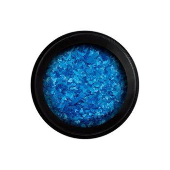 neon flakes blue
