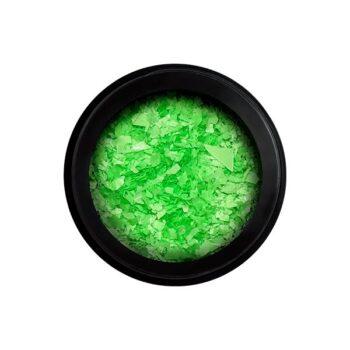 neon flakes green