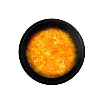 neon flakes orange
