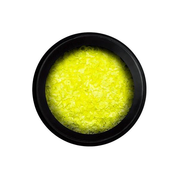 neon flakes yellow