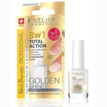 tratament unghii 8 in 1 eveline gold shine