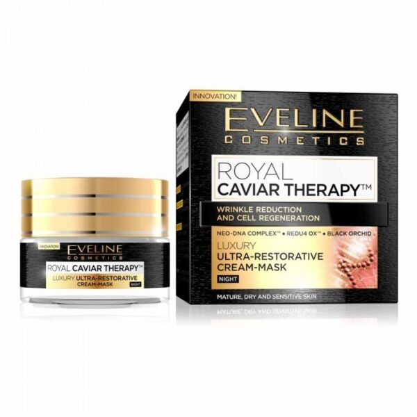 Masca de noapte pentru fata Eveline Royal Caviar Therapy 50 ml 700x700 1